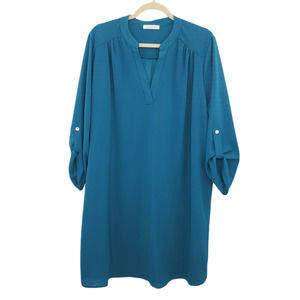 Entro Blue 3/4 Sleeve Top